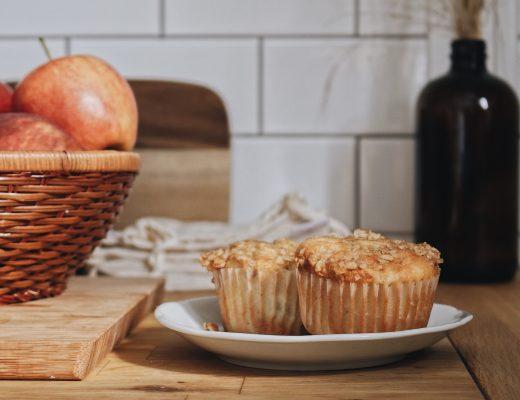 Muffins aux pommes et crumble d'avoine