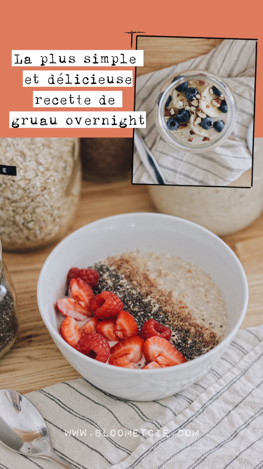 Gruau overnight - Pinterest