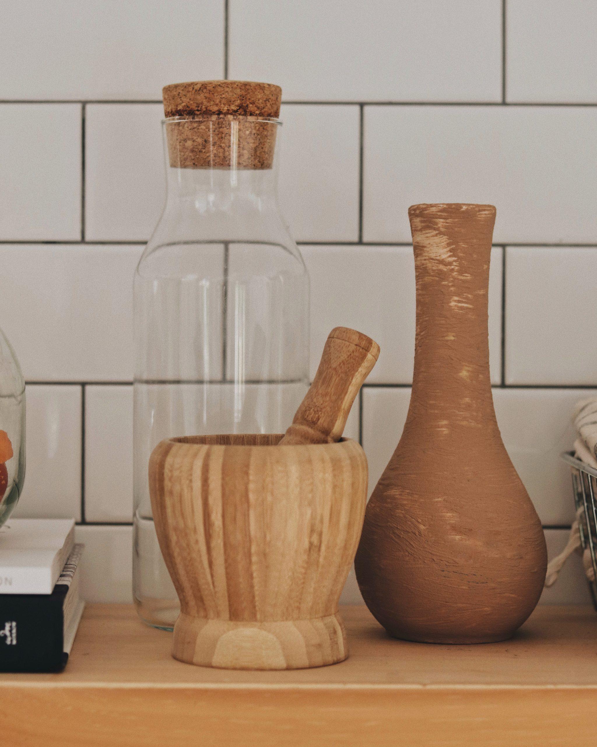 Mortier et vase