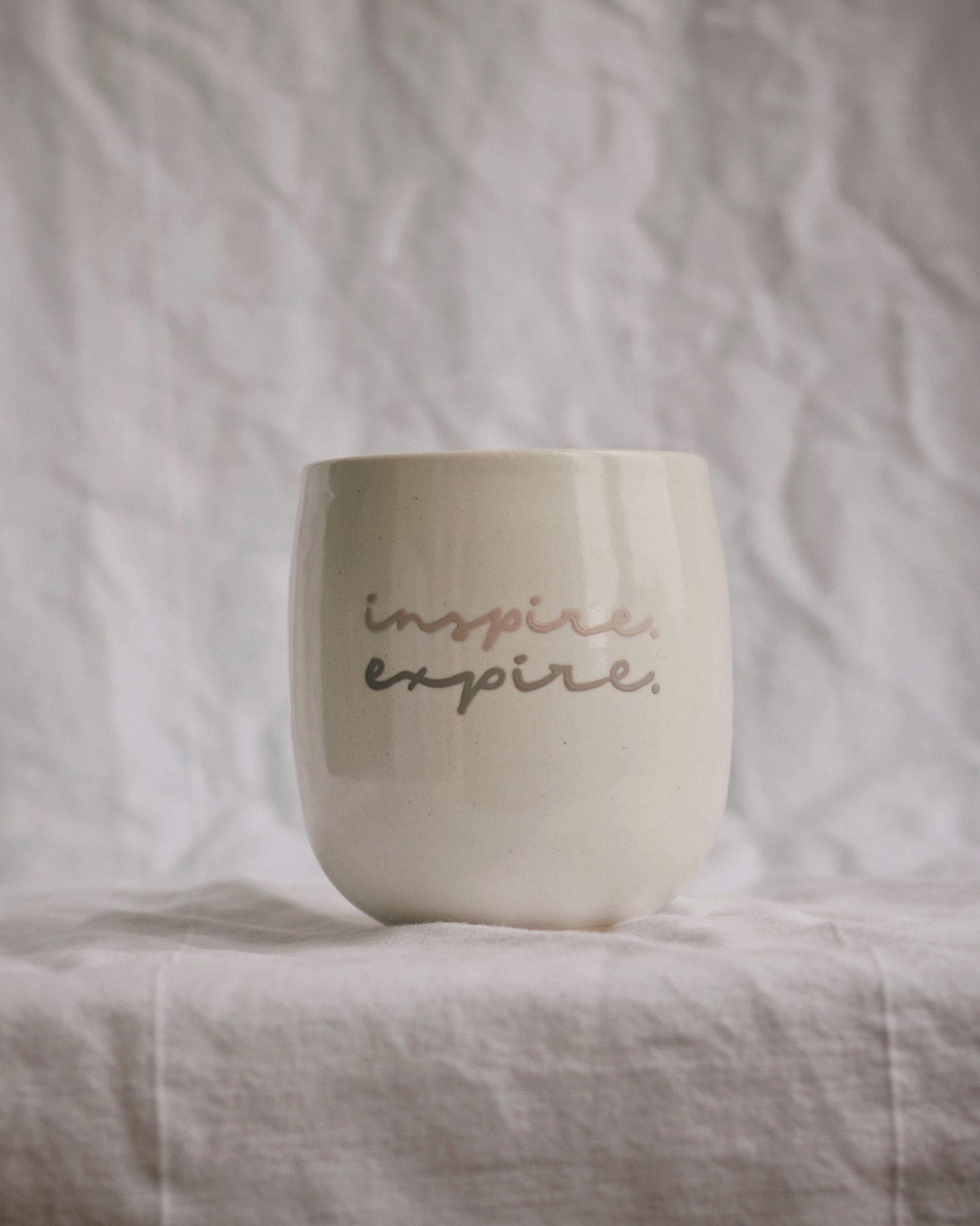 Gobelet de porcelaine personnalisé Bloom et cie
