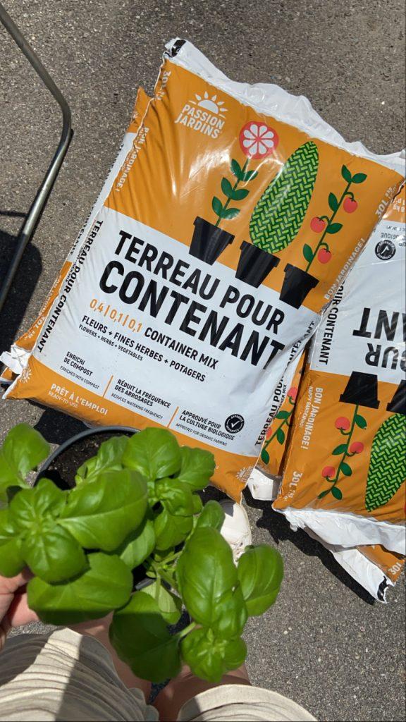 Terreau de jardinage en contenant Passion Jardins